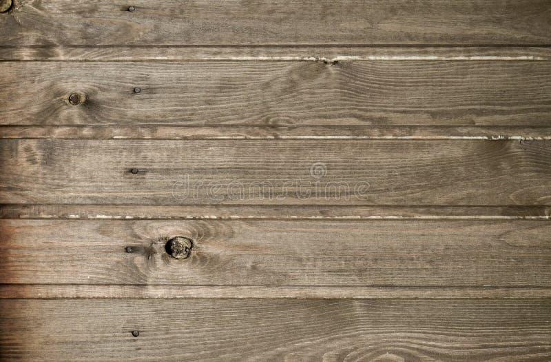 Texture en bois de planche horizontalement Plancher ou mur en bois Couleur de Brown images libres de droits