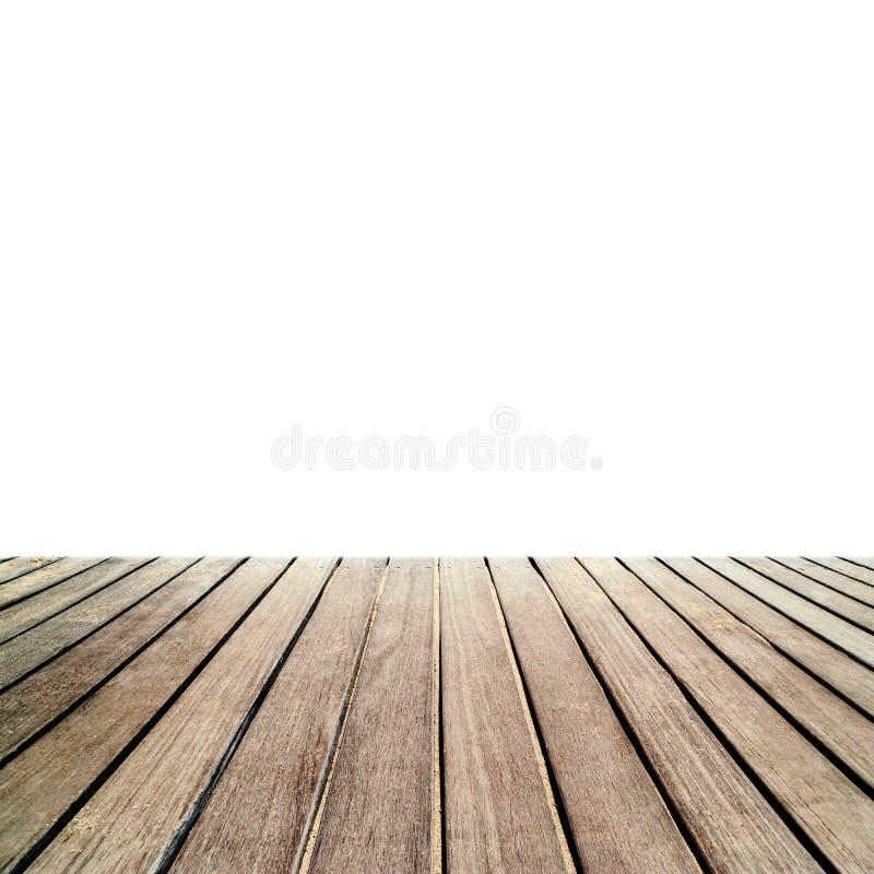 Texture en bois de plancher - vieille OIN en bois extérieure de decking ou de parqueter image stock