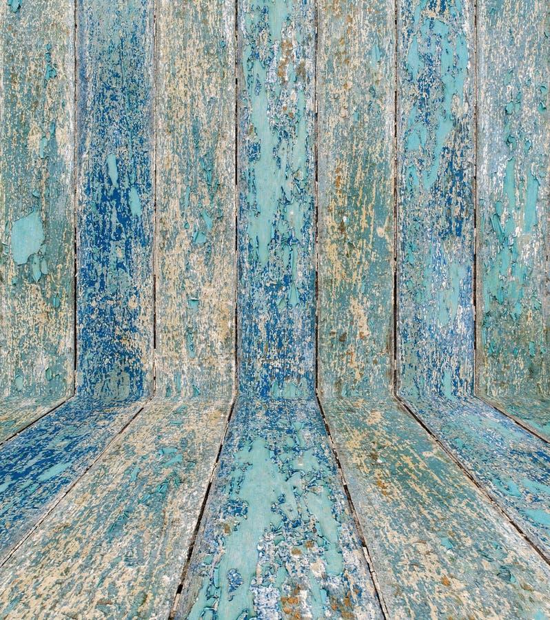 texture en bois de planches avec la peinture criquée de couleur pour le fond photo libre de droits