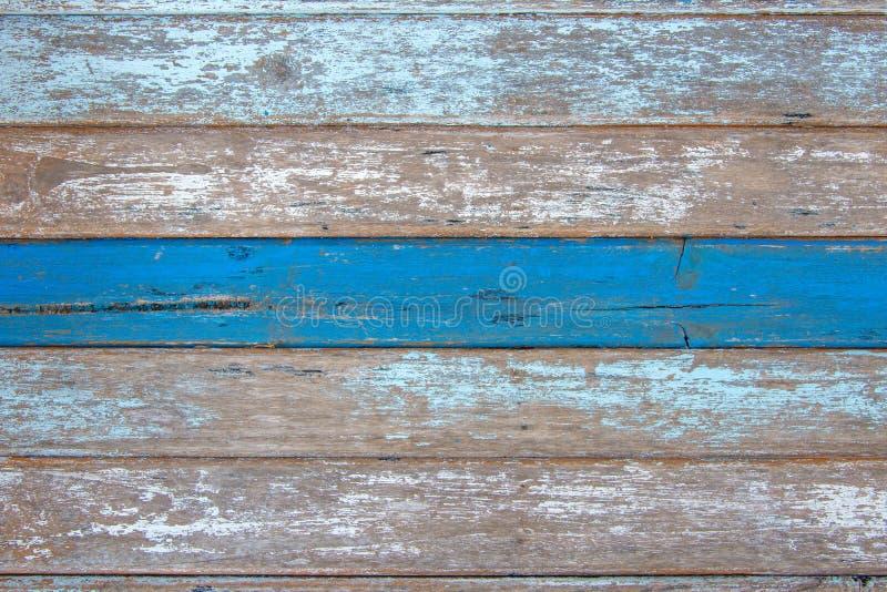 texture en bois de planches avec la peinture criquée de couleur pour le fond photographie stock