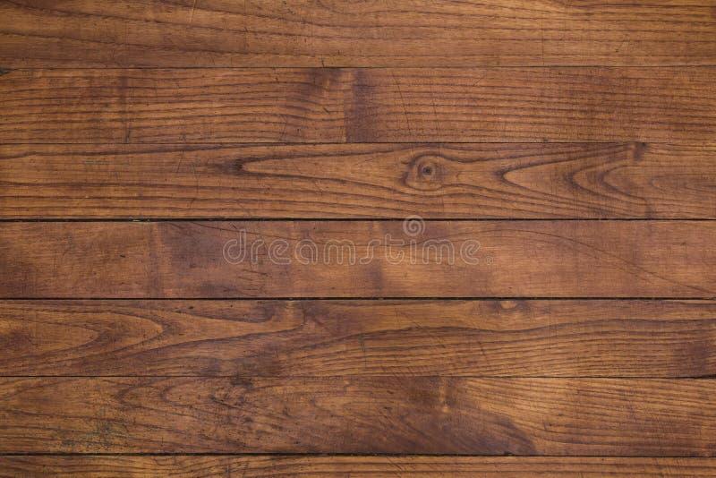 Texture en bois de planches de Brown images libres de droits