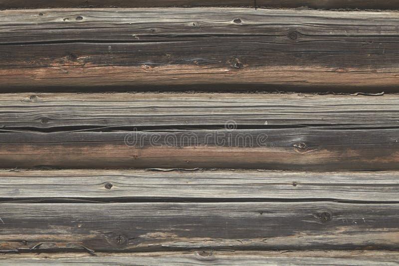 Texture en bois de surface de mur de rondin pour le contexte photos stock
