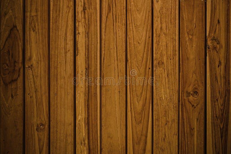 Texture en bois de table de Brown, fond en bois abstrait foncé photographie stock libre de droits