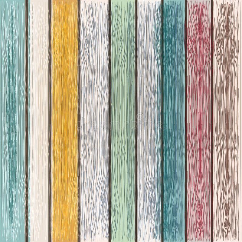 Texture en bois de vecteur grunge de bois peint, rétro style illustration stock
