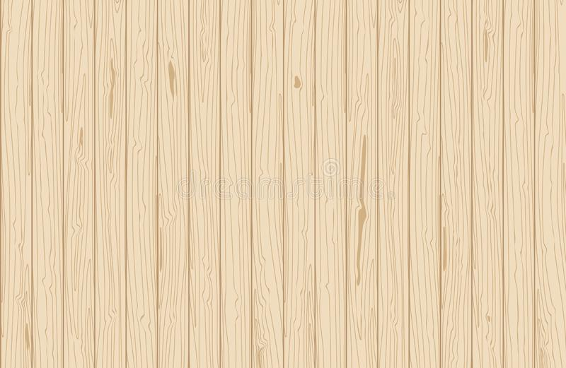 Texture en bois de vecteur Planches verticales de placage Fond naturel pour la configuration plate illustration de vecteur