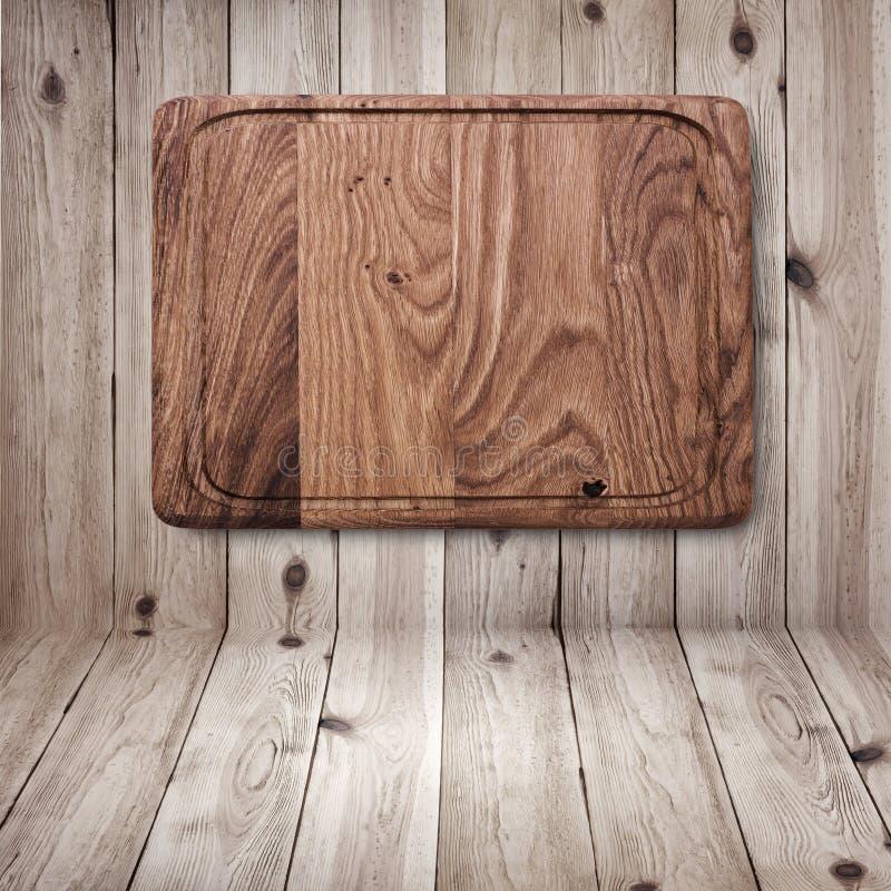 Texture en bois Fin en bois de planche à découper de cuisine image stock