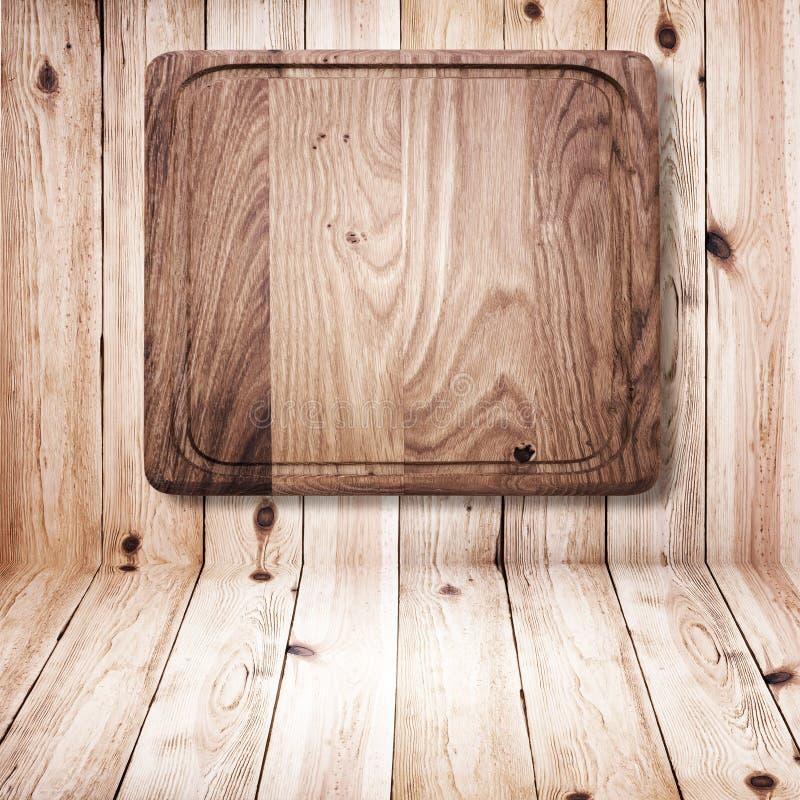 Texture en bois Fin en bois de planche à découper de cuisine  image libre de droits
