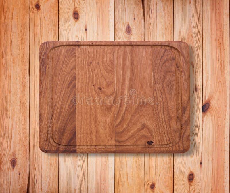 Texture en bois Fin en bois de planche à découper de cuisine  images stock