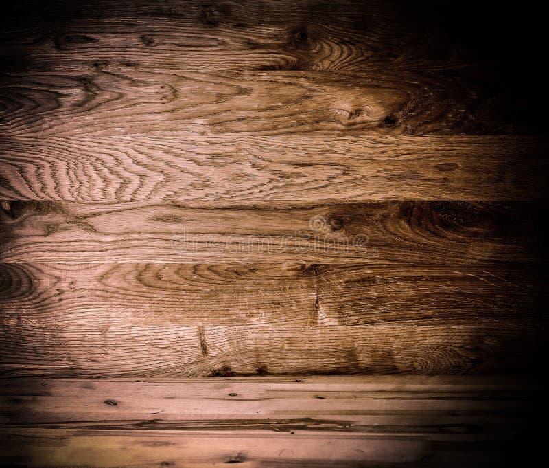 Texture en bois foncée Panneaux en bois foncés de fond vieux photo libre de droits