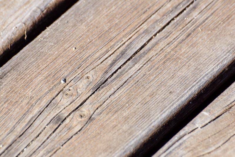 Texture en bois, fond en bois de grain de planche, bureau dans la fin de perspective, bois de construction ray?, vieux Tableau ou image libre de droits