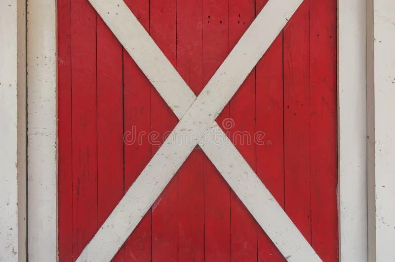 Texture en bois rouge et blanche de fenêtre photos libres de droits