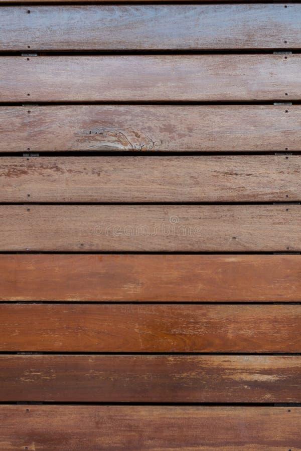 Texture en bois usée de Decking photographie stock libre de droits
