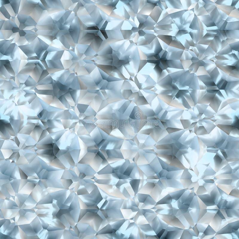 Texture en cristal sans couture illustration stock
