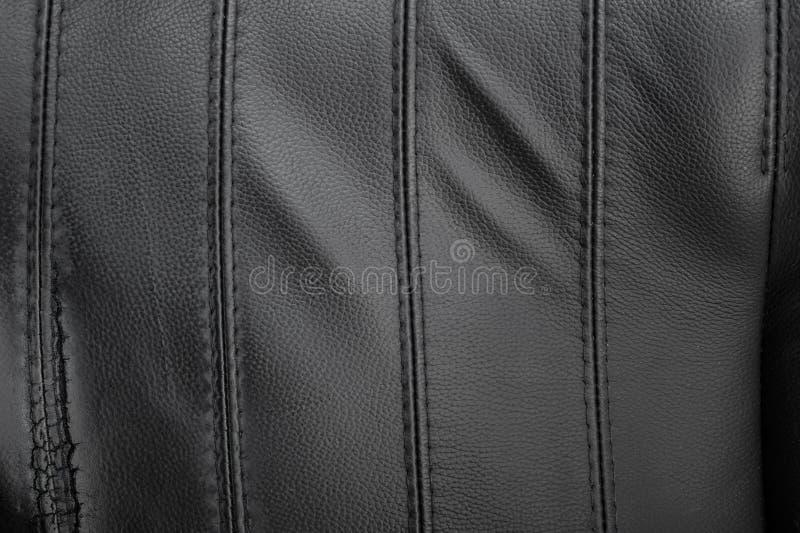 Texture en cuir déchirée par noir image stock
