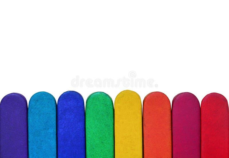 Texture en cuir d'arc-en-ciel d'isolement sur le fond blanc image stock