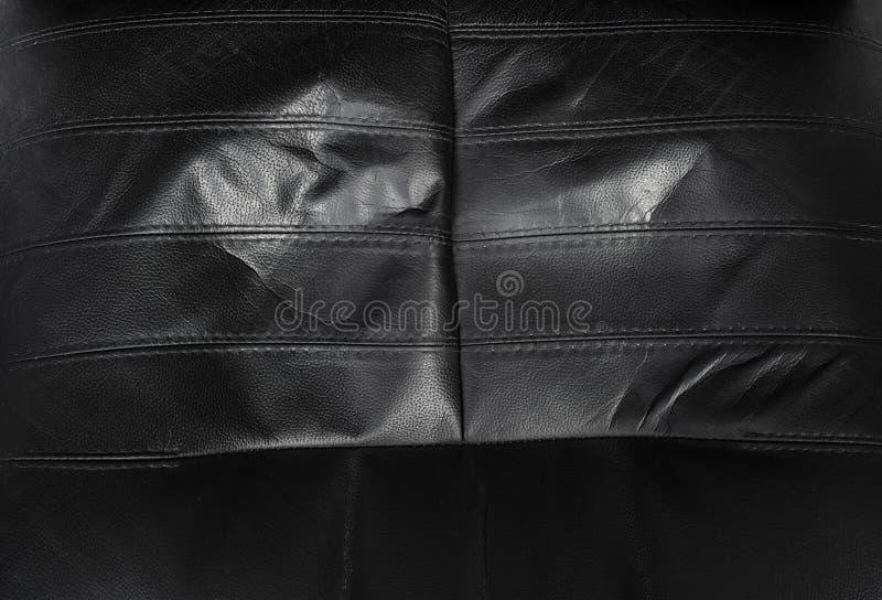Texture en cuir d?chir?e par noir photos stock