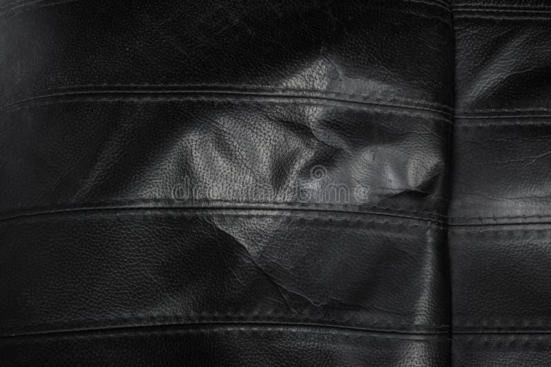 Texture en cuir d?chir?e par noir photo stock