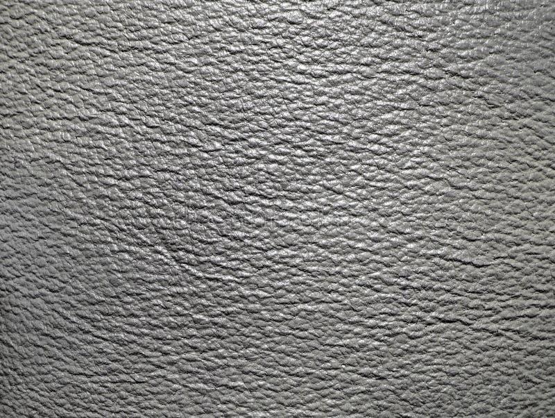 Texture en cuir grise photographie stock