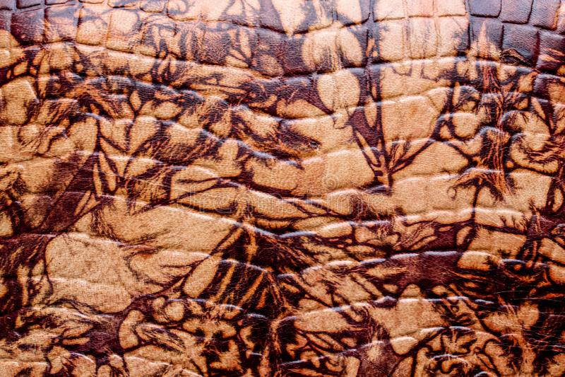 Texture en cuir grunge, brune et vieille image libre de droits