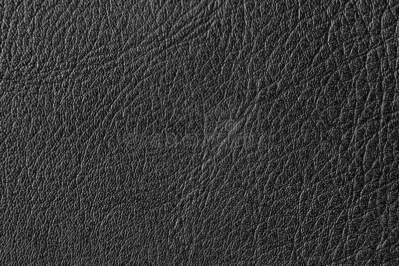 Texture en cuir noire images libres de droits