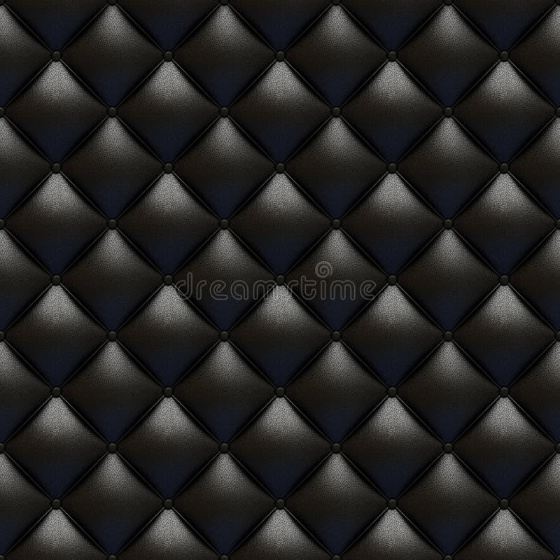 Texture en cuir noire de capitonnage illustration libre de droits