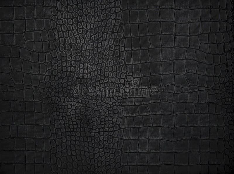 Texture en cuir noire de fond images stock
