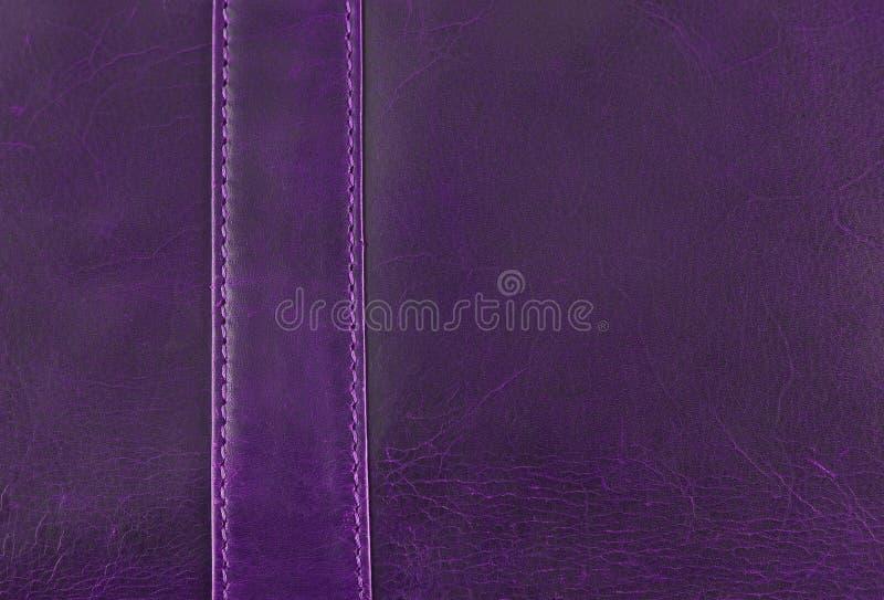 Texture en cuir pourprée photographie stock libre de droits
