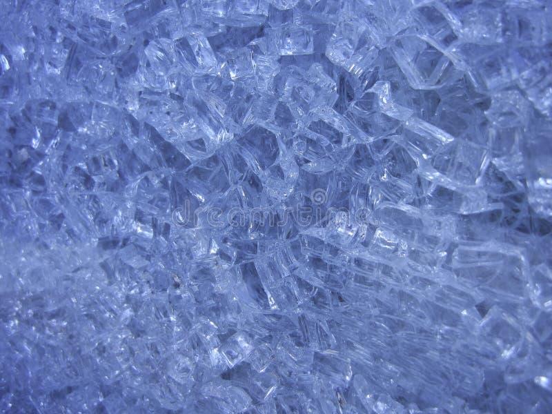 Texture en gros plan en verre brisée images libres de droits
