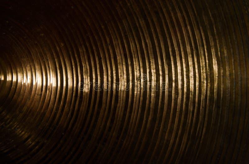 Texture en laiton de cymbales photos stock