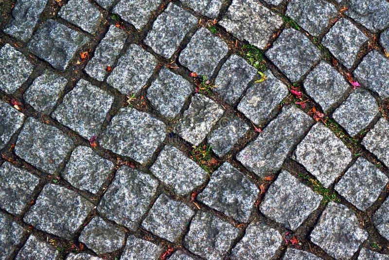 Texture en pierre de fond de route image stock