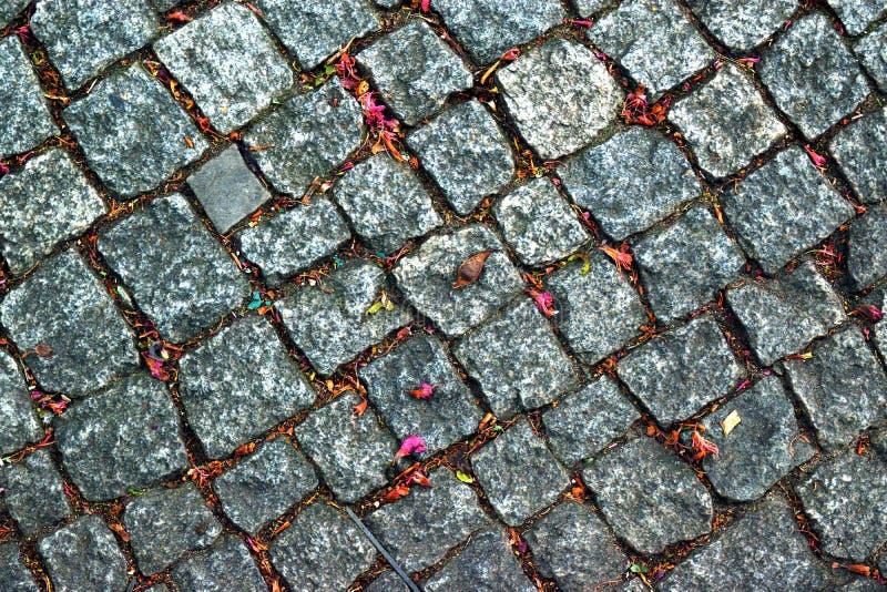 Texture en pierre de fond de route photographie stock