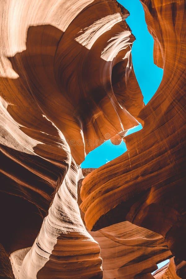 Texture en pierre de grès Canyon rampant d'antilope photos libres de droits