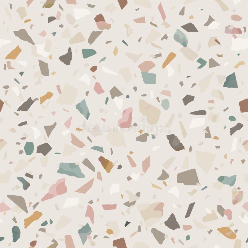 Texture en pierre de plancher de sol de mosaïque de granit Fond abstrait, configuration sans joint illustration stock