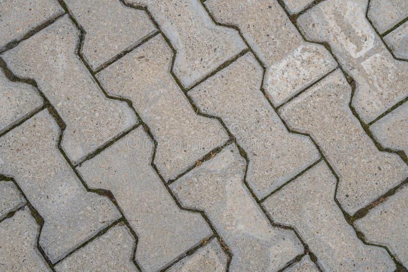 Texture en pierre de trottoir Fond abstrait du vieux pavé rond p photo libre de droits