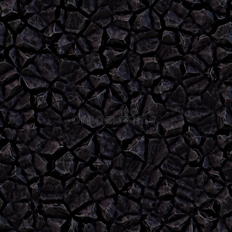 Texture en pierre foncée sans couture de trame photo stock