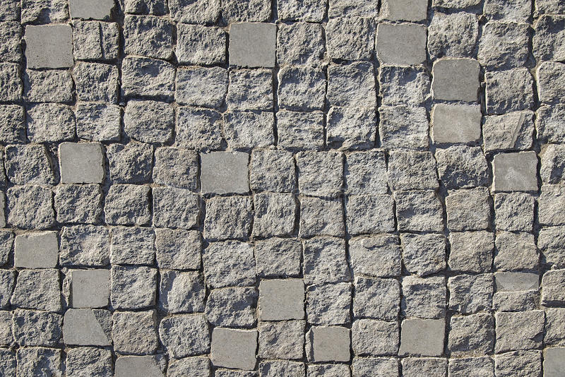 Texture en pierre gris-clair de fond de trottoir image libre de droits
