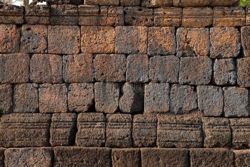 Texture en pierre, vieux mur historique de latérite images stock