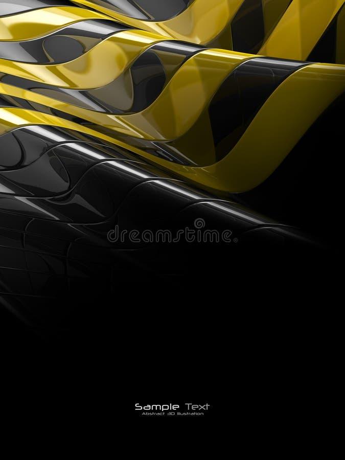 Texture en plastique abstraite noire et jaune illustration stock