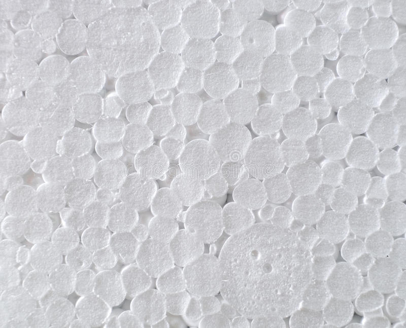 Texture en plastique de blanc de cercle de mousse chimique images stock