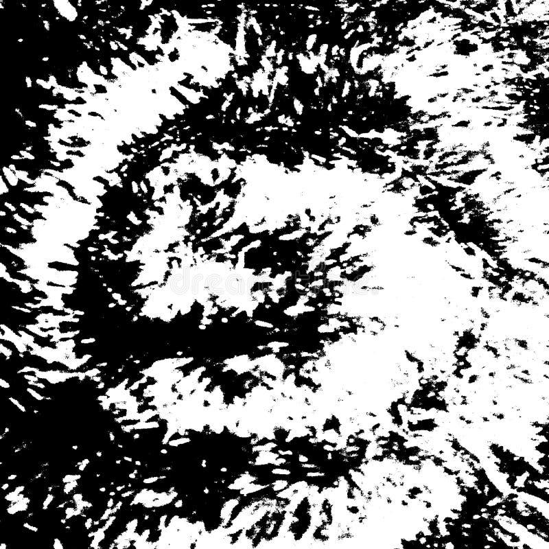 Texture en spirale à l'encre noire grunge abstraite, fond grunge d'éclaboussure illustration libre de droits