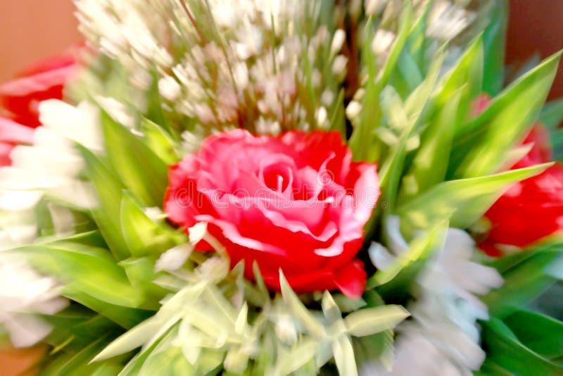 Texture en verre avec le Saint Valentin heureux, la conception fine de ton de couleur de marguerite, la tache floue et le fond ch photos libres de droits