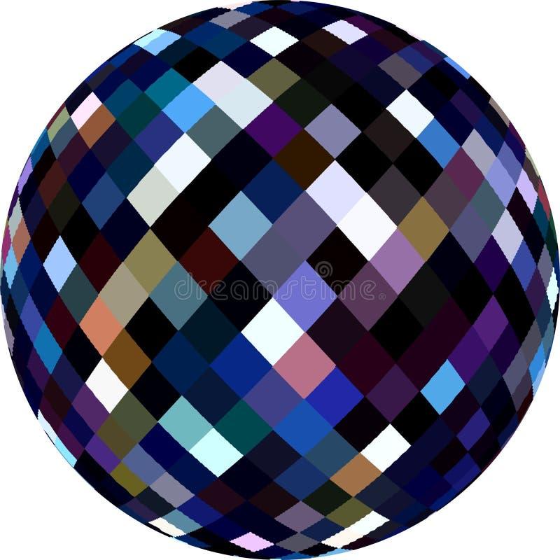 texture en verre de la sphère 3d Boule brillante de violette pourpre bleu-foncé illustration de vecteur