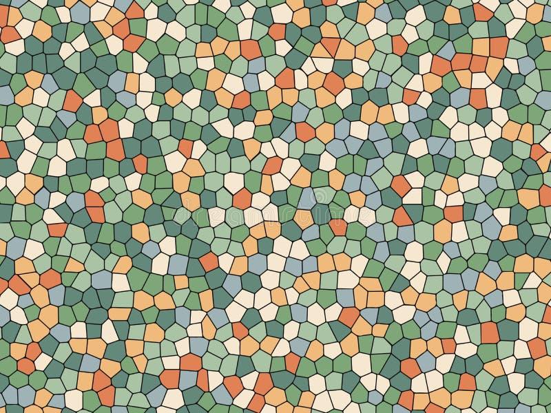 Texture en verre souillé, mosaïque colorée Dirigez le fond d'illustration pour la conception intérieure, copie sur le papier, pap illustration stock