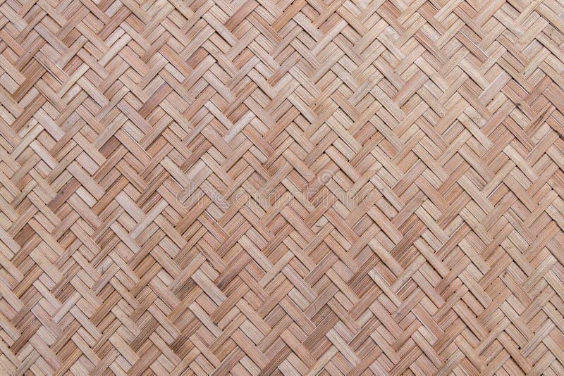 Texture et fond en bambou tissés photo libre de droits