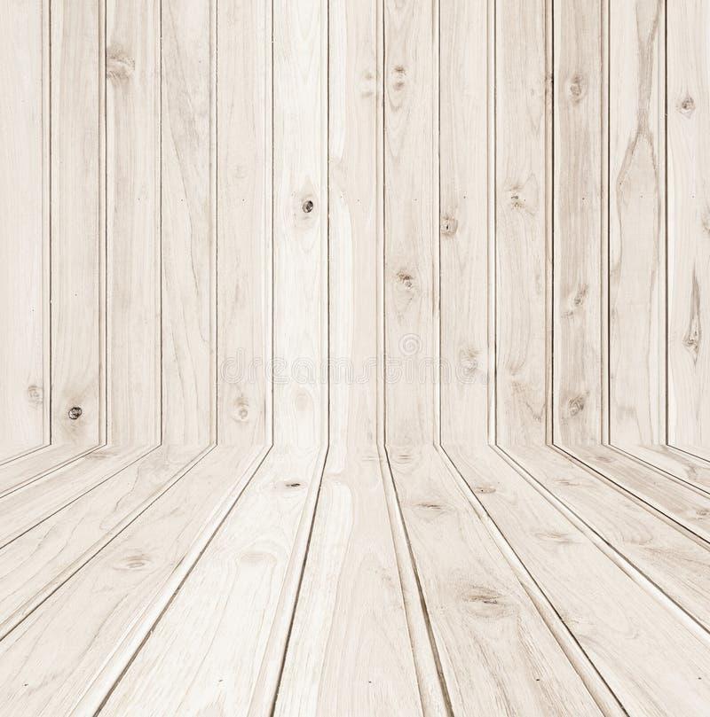 Texture et fond en bois de mur de nouveau teck image stock