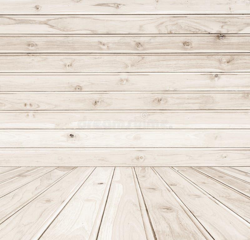 Texture et fond en bois de mur de nouveau teck image libre de droits