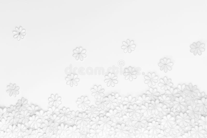 Texture et fond Fleurs de broderie motif blanc pour modèle de conception créative avec carte de voeux de célébration ou image libre de droits