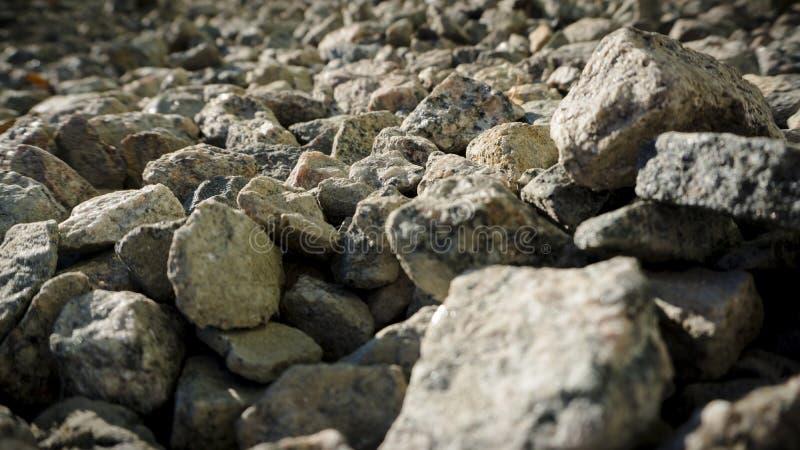 Texture et fond pierre à macadam écrasés de breakstone photo libre de droits