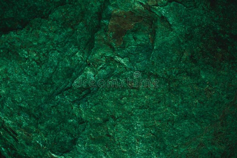 Texture et fond verts abstraits pour la conception Fond vert-foncé de vintage Texture verte approximative faite avec la pierre image stock