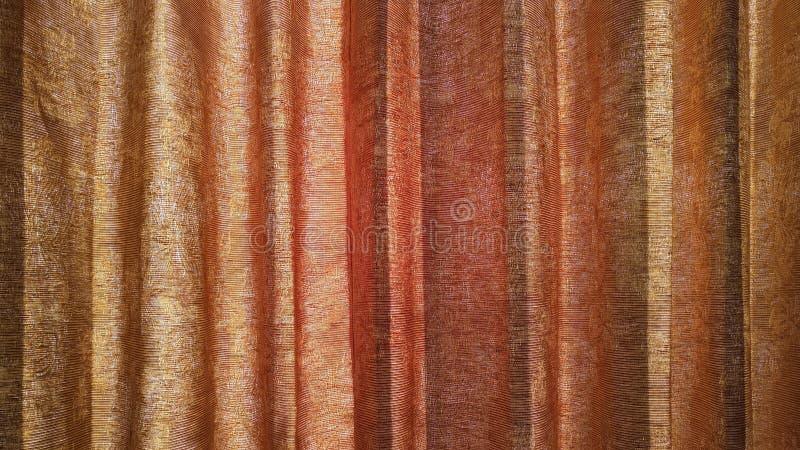 Texture et lumière du soleil de rideau images libres de droits